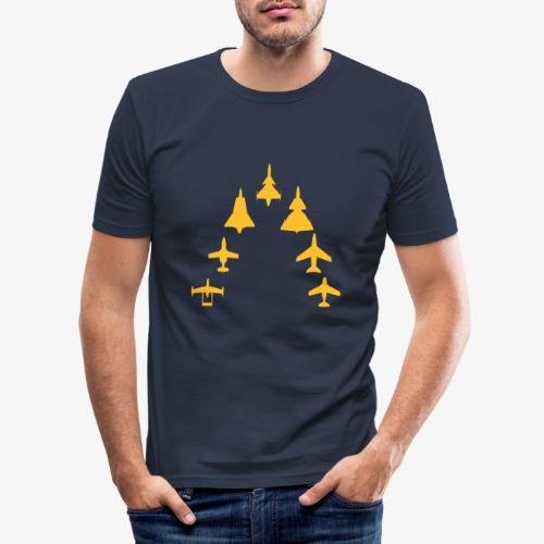 Swedish Air Force - Jet Fighter Generations - Slim Fit T-shirt herr