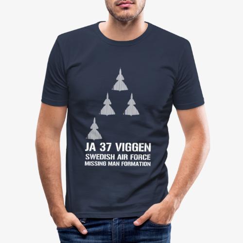 JA 37 Viggen - Missing Man Formation - Slim Fit T-shirt herr