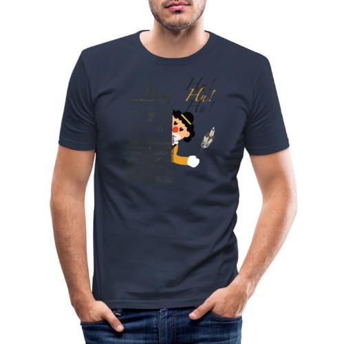 Hu! Hu! Hu! Schwarzgelber Clown am Schwarzen Tor - Männer Slim Fit T-Shirt