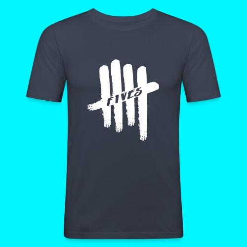 fives white 2 - T-shirt près du corps Homme