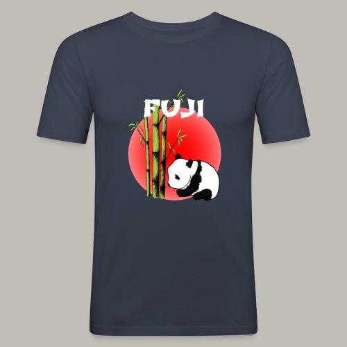 Fuji panda - T-shirt près du corps Homme