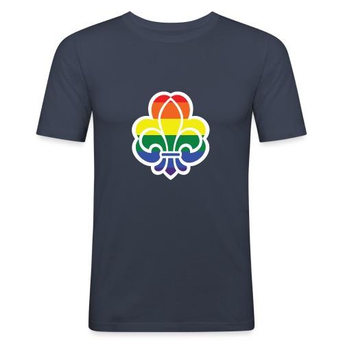Regnbuespejder jakker og t-shirts mv - Herre Slim Fit T-Shirt