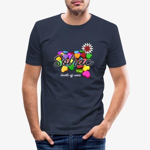 SOLRAC Hearts black - Camiseta ajustada hombre