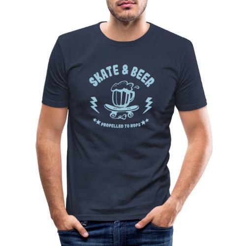 skateboard et bière - T-shirt près du corps Homme