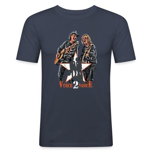 Voice 2 Voice T Shirt NEU 2015 3aTransparent png - Männer Slim Fit T-Shirt