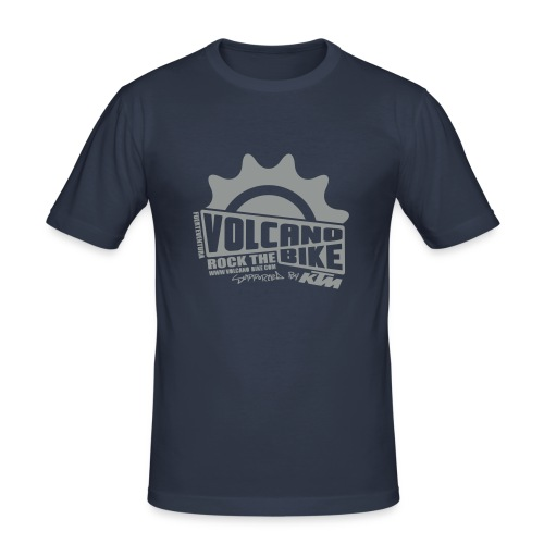 volcanobike-shirt - Männer Slim Fit T-Shirt