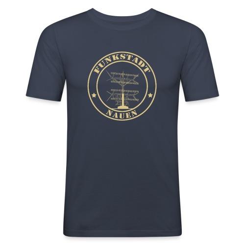 Goldener Funker - Männer Slim Fit T-Shirt