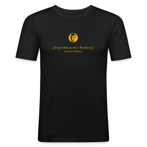 irgendwasmitmedienheadn 2016 - Männer Slim Fit T-Shirt