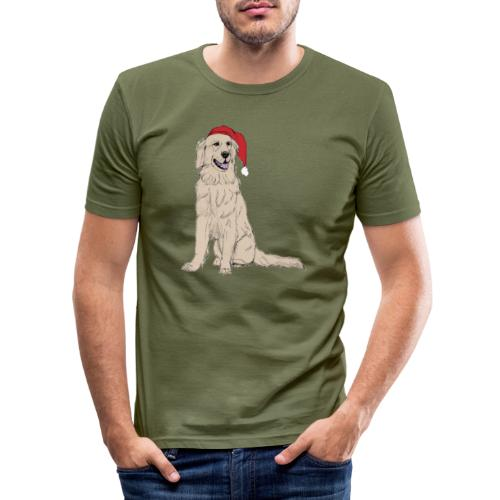 Golden Retriever Christmas - Herre Slim Fit T-Shirt