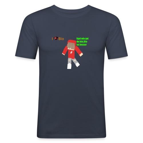 I <3 Bio - Männer Slim Fit T-Shirt