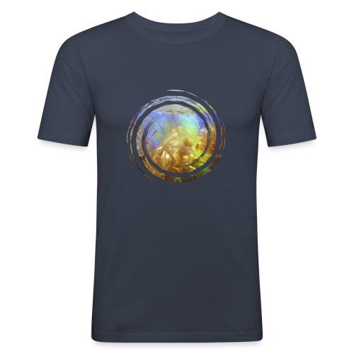 Opal Spirale - Männer Slim Fit T-Shirt