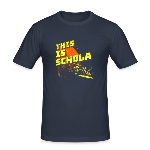 This is schola - Men's Slim Fit T-Shirt
