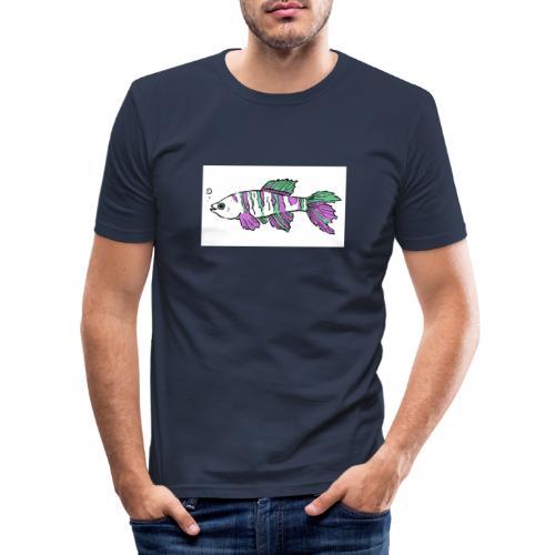 FISCH AUF DEN NACKEN - Männer Slim Fit T-Shirt
