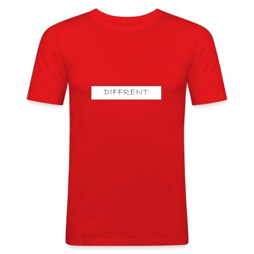 diffrent white logo - Slim Fit T-shirt herr