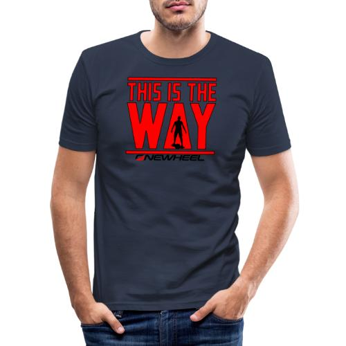 This Is The Red Way - Herre Slim Fit T-Shirt