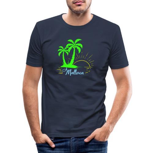 Die goldenen Sonnenuntergänge von Mallorca - Männer Slim Fit T-Shirt