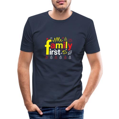 Familie family first liebe meine Familie Geburt - Männer Slim Fit T-Shirt
