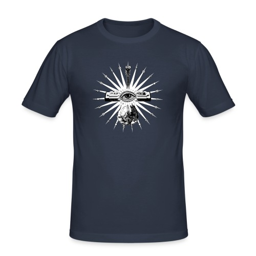 Blues Is The Truth - white star - Men's Slim Fit T-Shirt