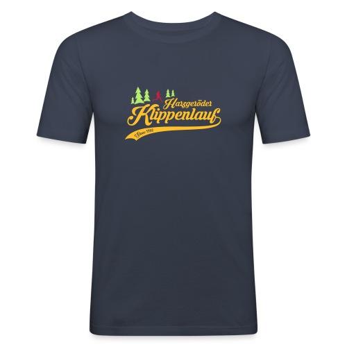 Klippenlauf Retro Front - Männer Slim Fit T-Shirt