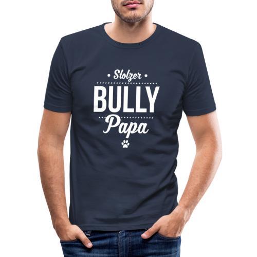 Stolzer Bullypapa Punkte - Männer Slim Fit T-Shirt