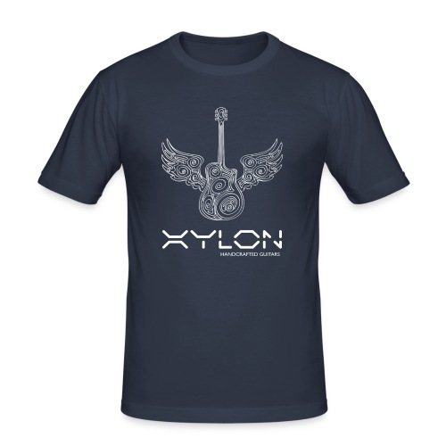 Xylon Guitars Premium T-shirt (white design) - Men's Slim Fit T-Shirt