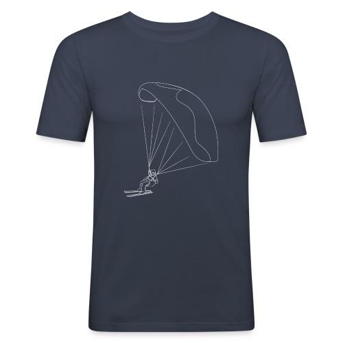 Speedflying Speedriding Linien Skizze - Männer Slim Fit T-Shirt