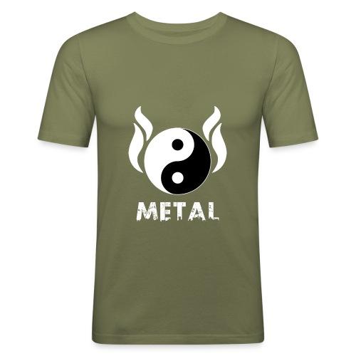 YIN YANG METAL - Männer Slim Fit T-Shirt