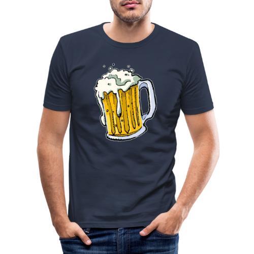 Boccale Birra - Maglietta aderente da uomo