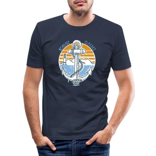 Ankerpunkt Nordsee Ostsee - Männer Slim Fit T-Shirt