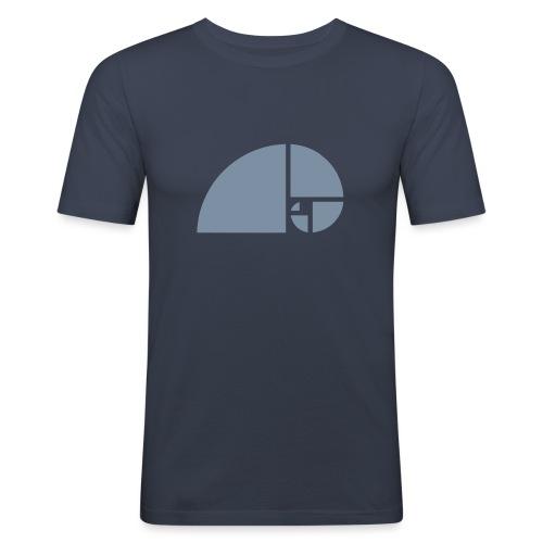 Goldener Schnitt - Fibonacci Spirale - Phi - Folge - Männer Slim Fit T-Shirt