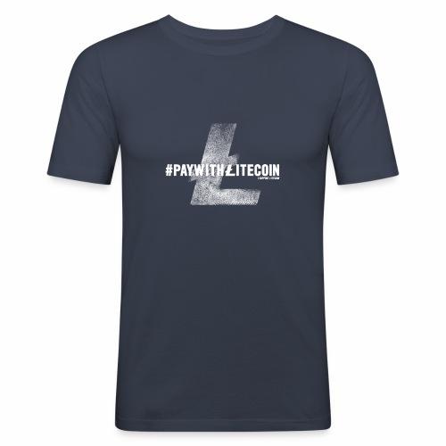 #paywithlitecoin - Maglietta aderente da uomo
