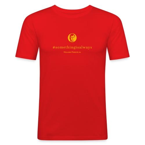 somethingisalwaysheadn 2016 - Männer Slim Fit T-Shirt