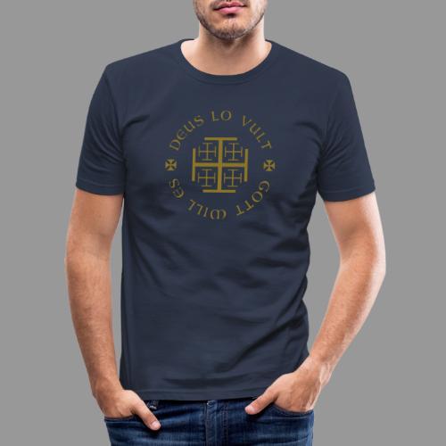 deus lo vult - Gott will es - Männer Slim Fit T-Shirt