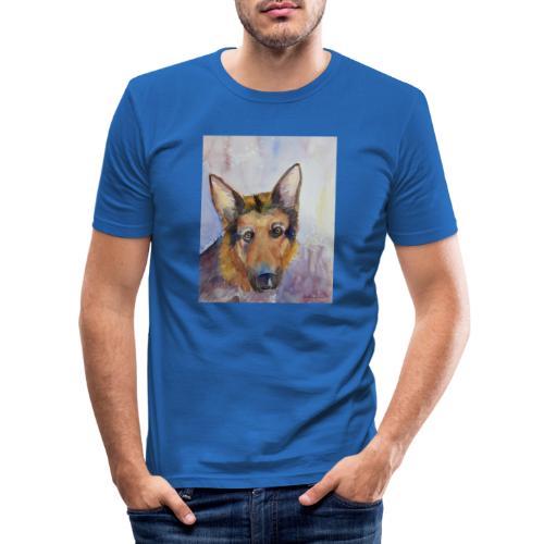 german shepherd wc - Herre Slim Fit T-Shirt