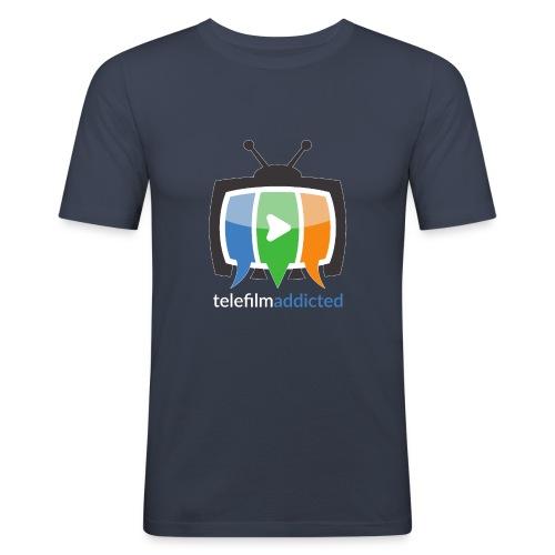 Logo Telefilm Addicted - Maglietta aderente da uomo