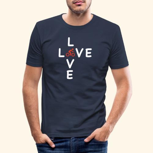Fahrrad, Rennrad, Race-Bike - Männer Slim Fit T-Shirt