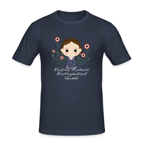 Virginia Woolf citazione [ENG] - Maglietta aderente da uomo