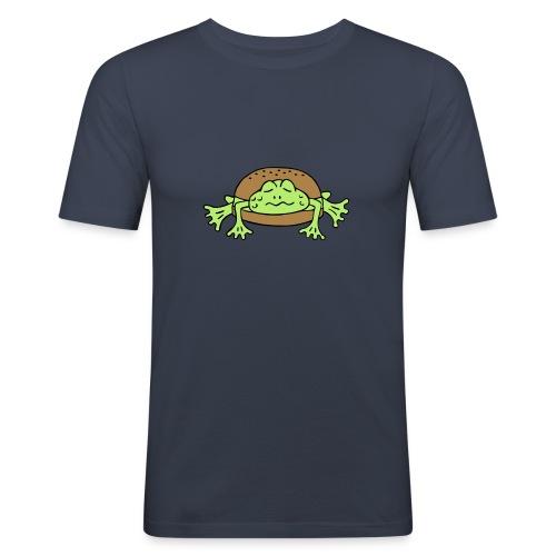 Froschburger French Burger Fastfood Frog ohne Käse - Männer Slim Fit T-Shirt