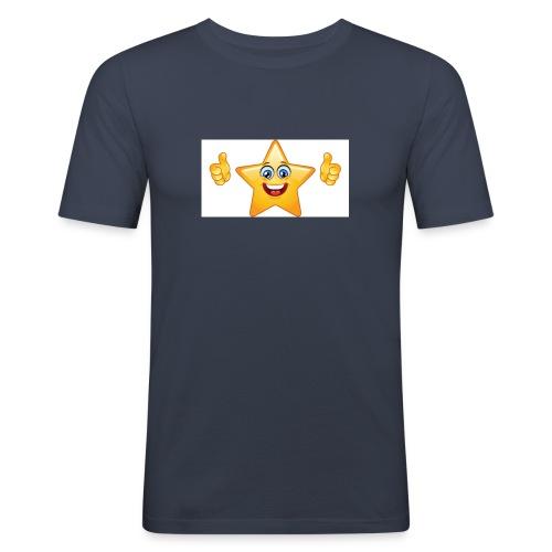 star-smiley-234 - Maglietta aderente da uomo
