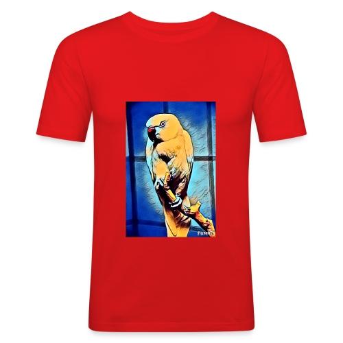 Bird in color - Miesten tyköistuva t-paita