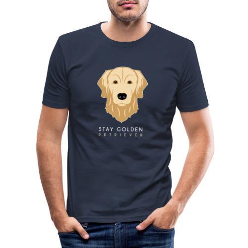 Golden Retriever - Maglietta aderente da uomo