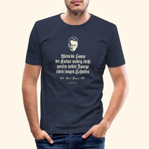 T-Shirt Zitat Karl Kraus über Kultur - Männer Slim Fit T-Shirt
