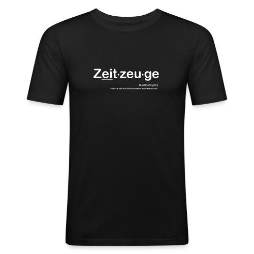 zeitzeuge kurven - Männer Slim Fit T-Shirt