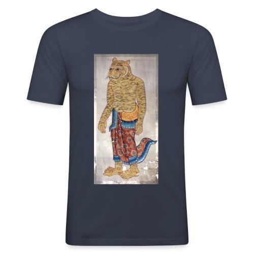 CHABA Tiger - Männer Slim Fit T-Shirt