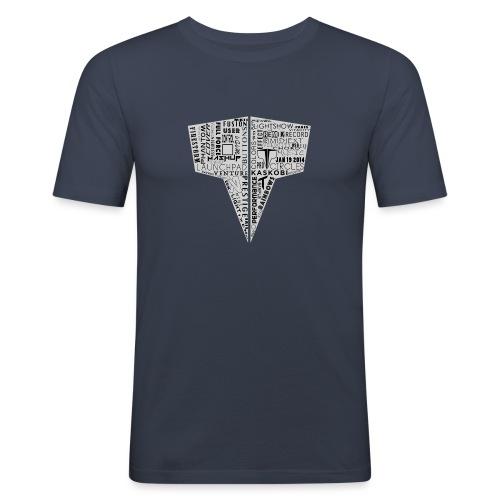 Word Logo // Kaskobi - Men's Slim Fit T-Shirt