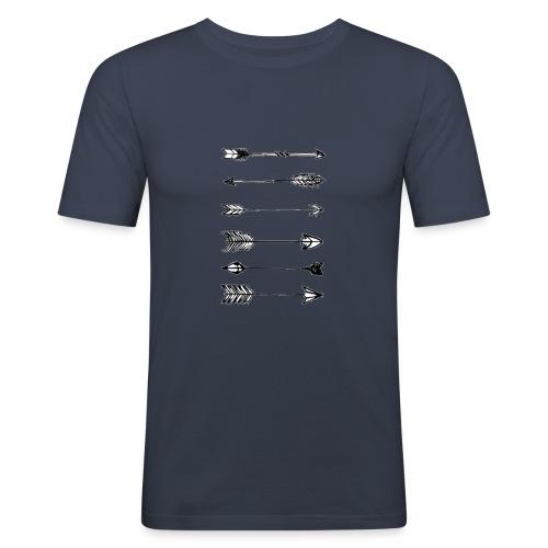 pijlen - Mannen slim fit T-shirt