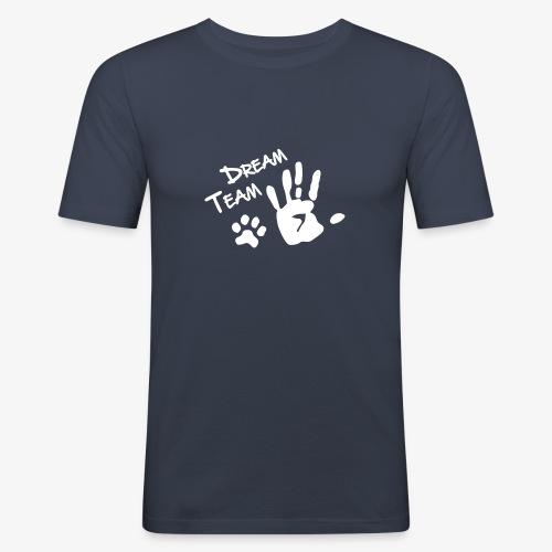Dream Team Hand Hundpfote - Männer Slim Fit T-Shirt