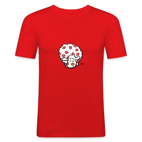 Kuss Mutterschaf - Männer Slim Fit T-Shirt