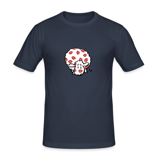 Kiss Uuhi - Miesten tyköistuva t-paita