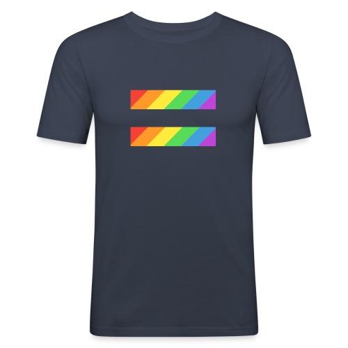 LGBTQ Equality Pride Logo - Men's Slim Fit T-Shirt